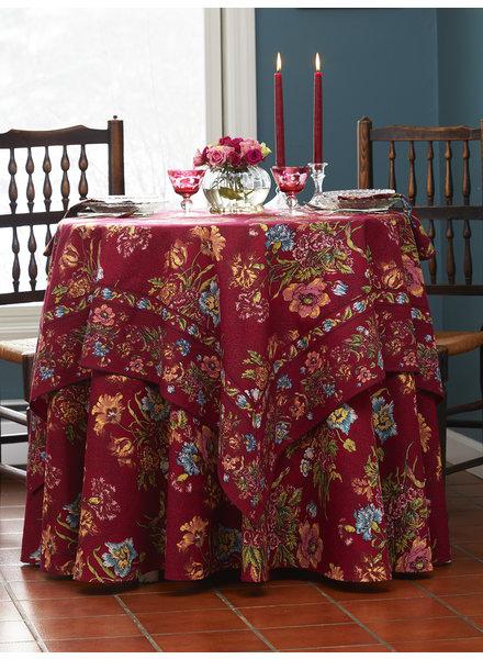 April Cornell Table Cloth 60x108 Jaipur Garden Wine