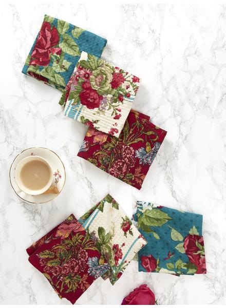 April Cornell Tiny Tea Towel Jewel Patchwork S/6