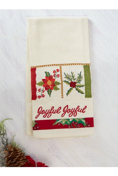 Tea Towel Christmas Sampler Embroidered