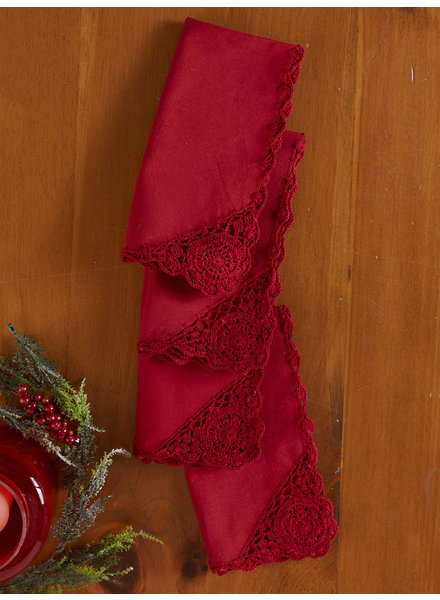 April Cornell Napkin Cora's Crochet Red