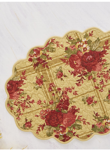 April Cornell Place Mat Cornwall Cottage Gold