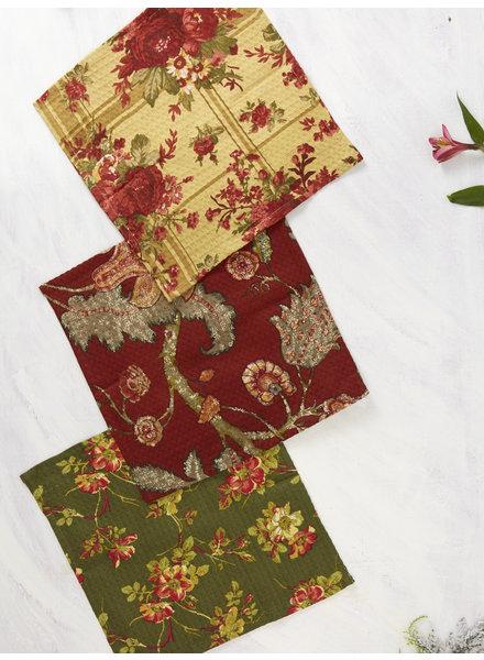 April Cornell Tea Towel Nature's Patchwork S/3