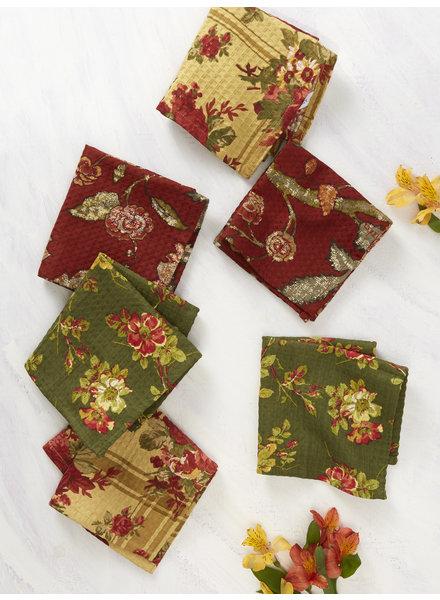 April Cornell Tiny Tea Towel Nature's Patchwork S/6