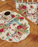 Placemat Quilted Cornwall Teal