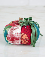 April Cornell Pincushion Pumpkin Jewel Patchwork