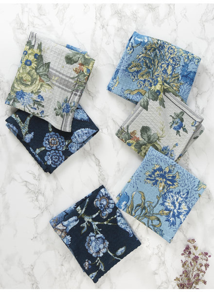 April Cornell Tiny Tea Towels Midnight Patchwork S6