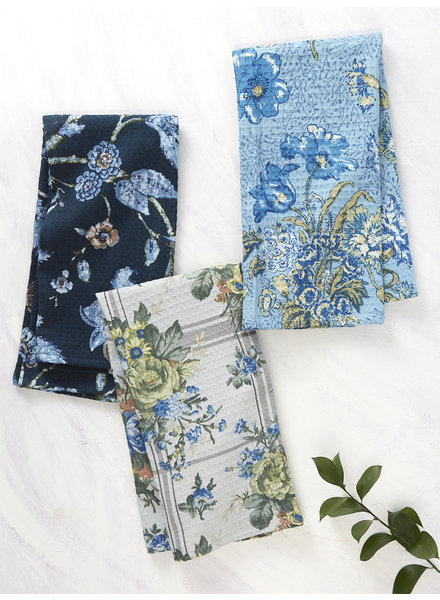 April Cornell Tea Towel Bundle Midnight Patchwork