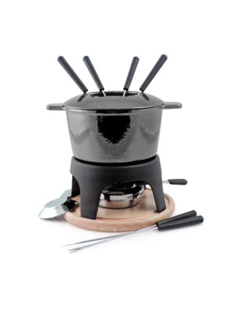 Swissmar Sierra 11PC Cast Iron Fondue Set - Metallic Black