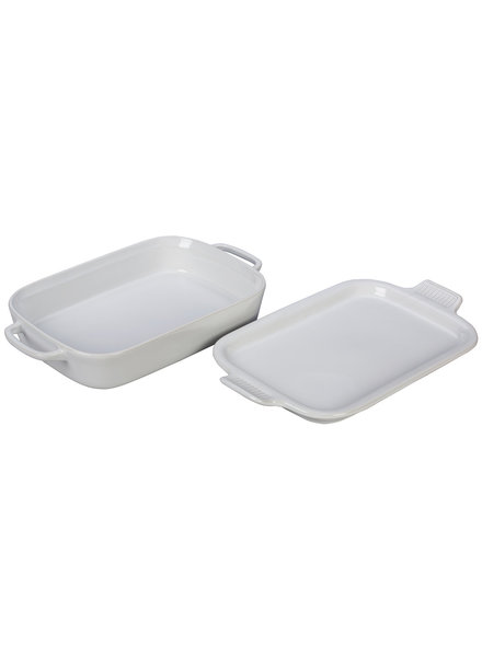 "Le Creuset Rectangular Baking Dish with Platter Lid 2.75QT (13"" x 9"")"
