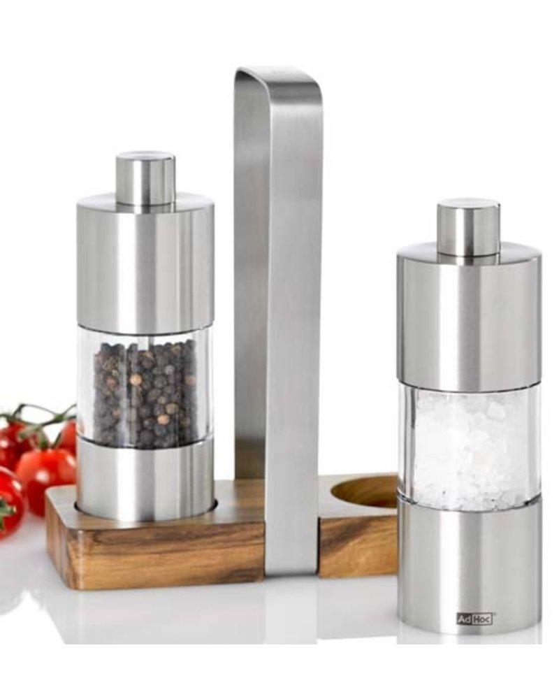 AdHoc Menage Classic Salt + Pepper Mill Gift Set