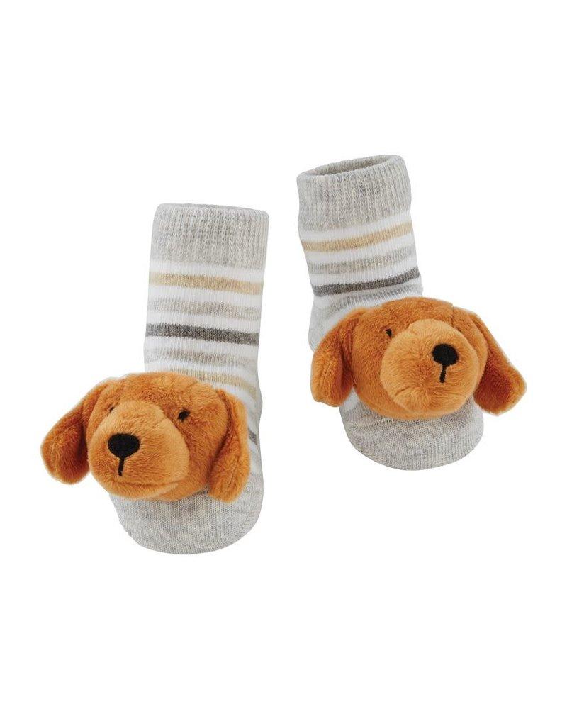 Mud Pie Dachshund Rattle Toe Socks