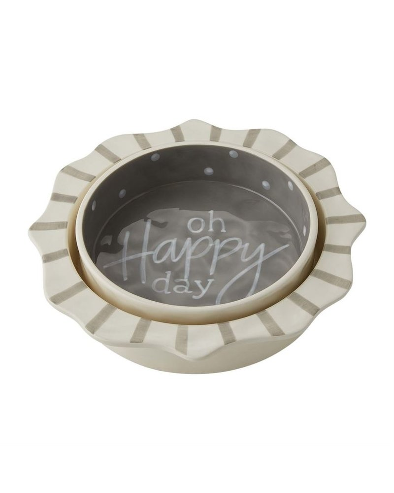 Mud Pie Happy Nested Casserole Set