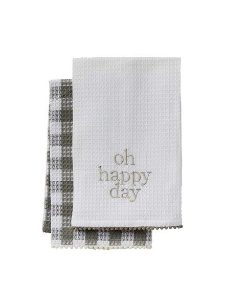 Mud Pie Happy Towel Set