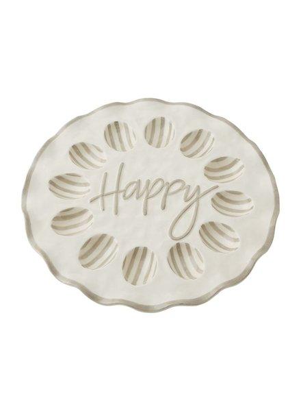 Mud Pie Happy Ruffle Egg Tray