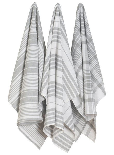 Now Designs Dishtowel Jumbo S/3 London Gray