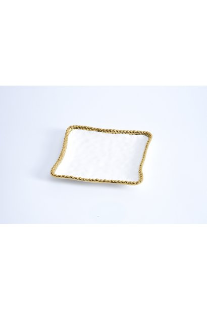 Plate Appetizer White/Gold