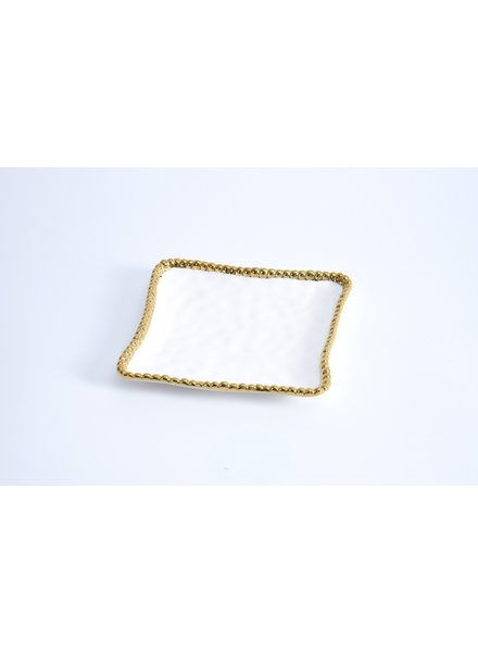 Pampa Bay Plate Appetizer White/Gold