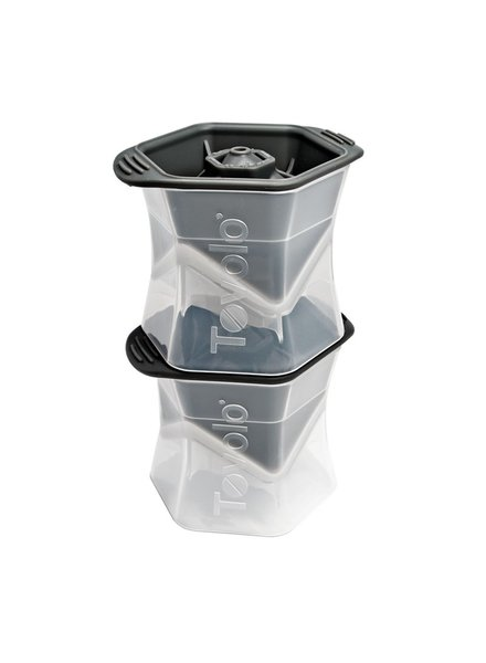 Tovolo Colossal Cube Ice Molds (Set of 2) - Charcoal