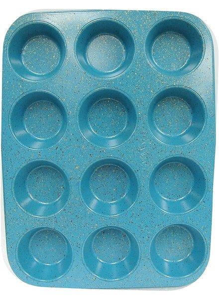 Casaware Muffin Pan 12C Blue Granite
