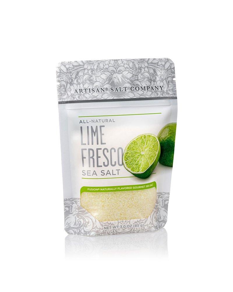 SaltWorks Lime Fusion Sea Salt 3oz Zip Pouch