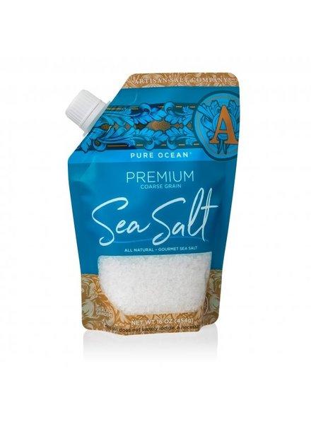 SaltWorks Pure Ocean Premium Coarse Grain Sea Salt 16oz Pour Pouch