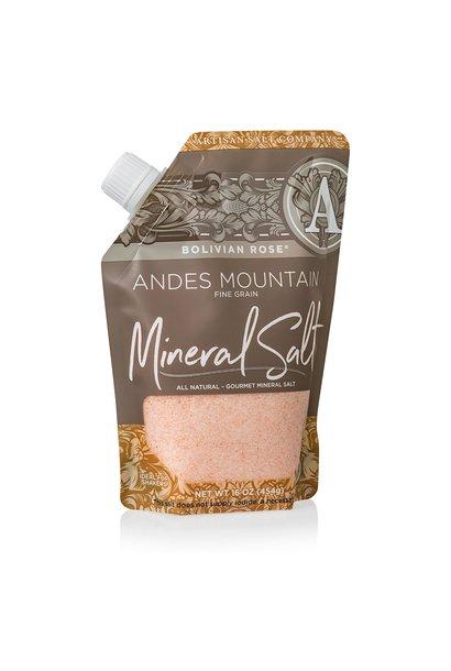 Bolivian Rose Andes Mountain Coarse Mineral Salt 16oz Pour Pouch