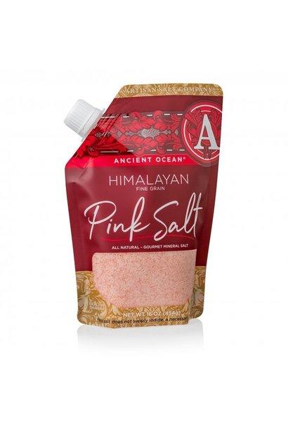 Himalayan Ancient Ocean Pink Coarse Sea Salt 16oz  Pour Pouch