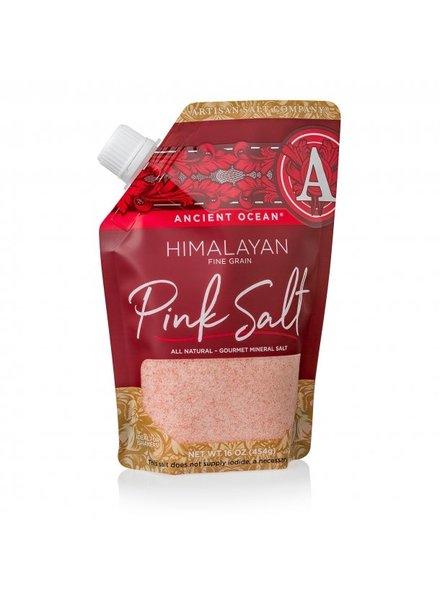 SaltWorks Himalayan Ancient Ocean Pink Coarse Sea Salt 16oz  Pour Pouch