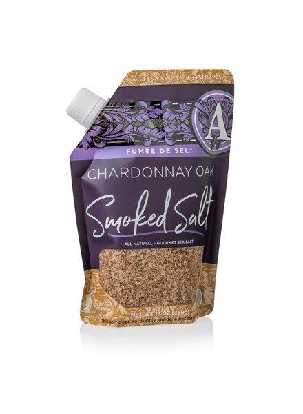 SaltWorks Fume De Sel Chardonnay Oak Smoked Sea Salt 13oz Pour Pouch