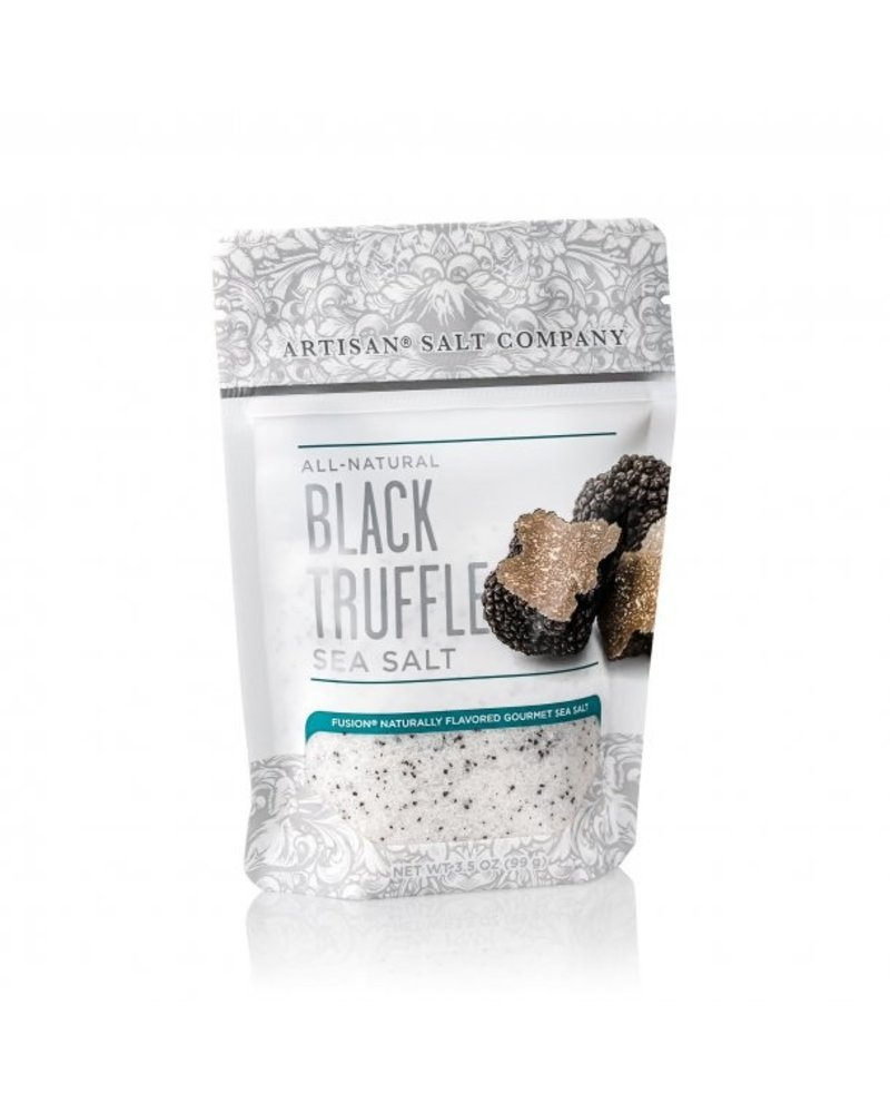 SaltWorks Black Truffle Fusion Sea Salt 3.5oz Zip Pouch
