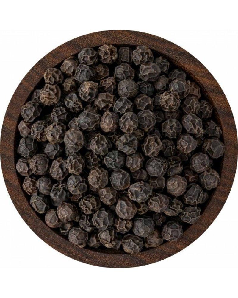 SaltWorks Malabold Organic Tellicherry Peppercorns 8oz Pour Pouch