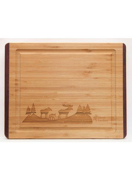Island Bamboo Pakka RB Cutting Board SM Moose