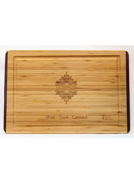 Island Bamboo Rainbow Carving Board LG CKS