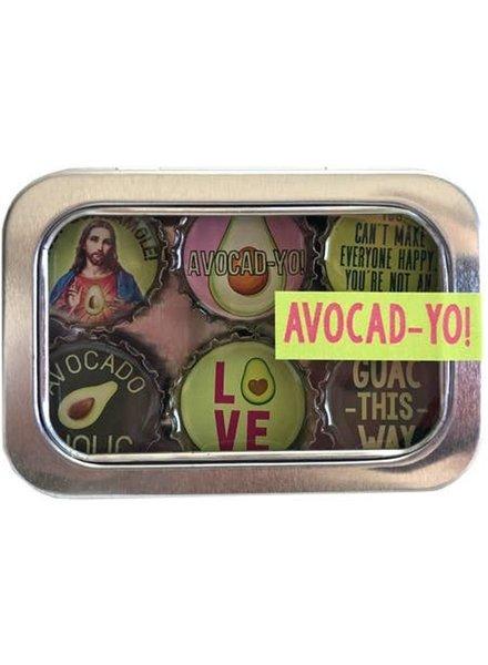 Kate's Magnets Magnet Set Avocado