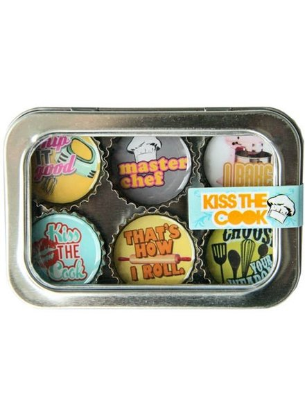 Kate's Magnets Magnet Set Kiss The Cook