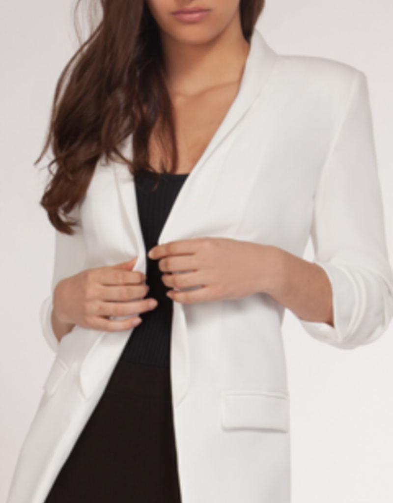 DEX 3/4 RUCHED SLEEVE BLAZER