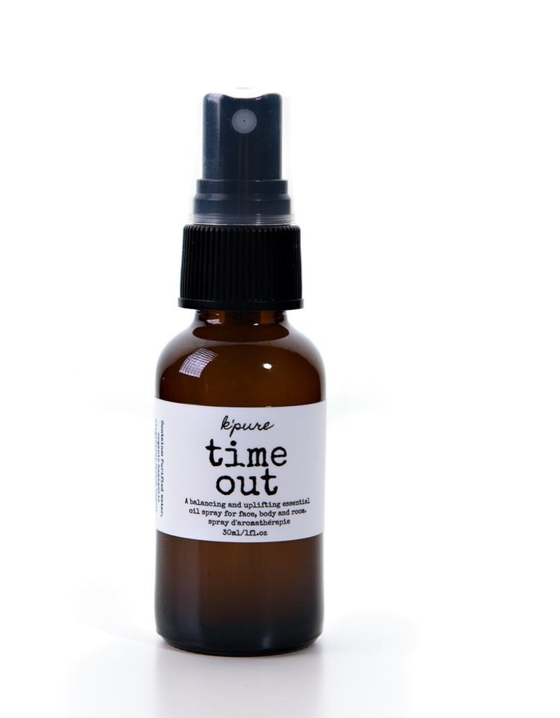 K'PURE TIME OUT UPLIFTING ESSENTIAL OIL SPRAY -  (KPTIMEOUT30)
