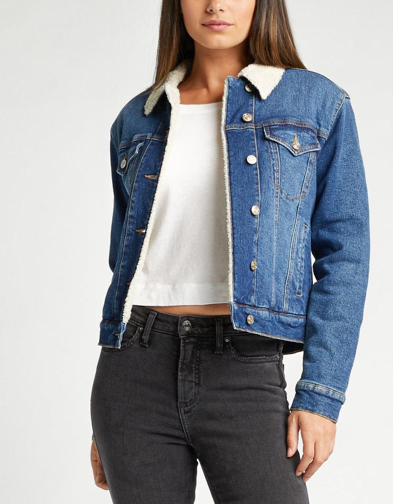 Silver Jeans SELENA - SHERPA LINED DENIM JACKET