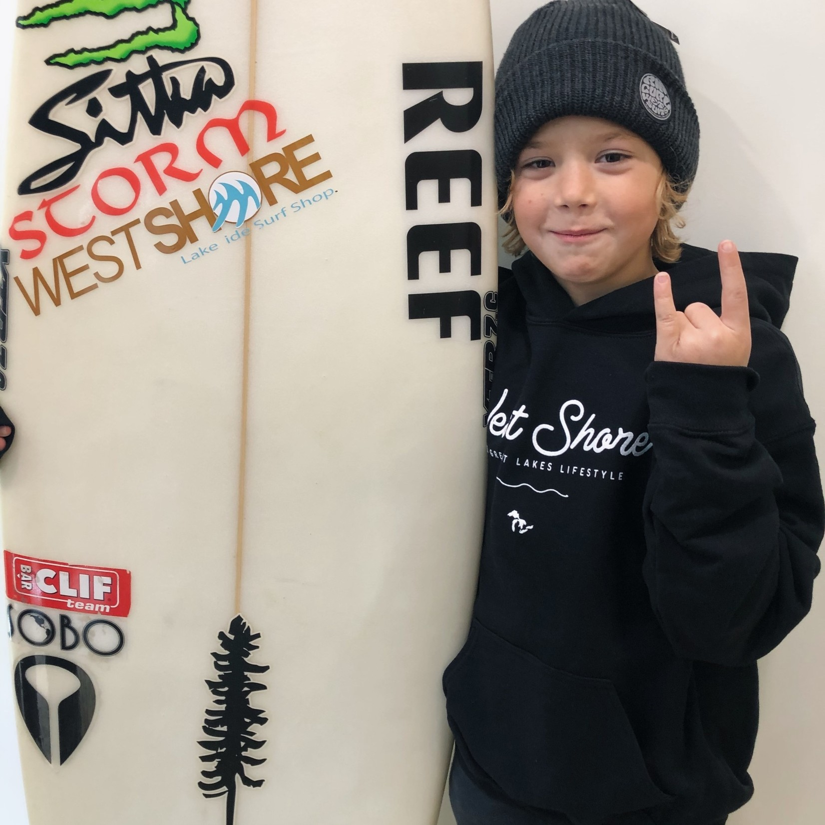 WEST SHORE WS YOUTH HOODY - CLASSIC SCRIPT