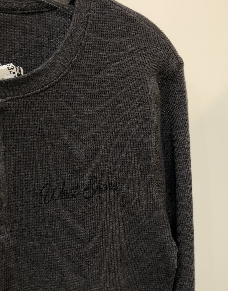 WEST SHORE WS L/S WAFFLE HENLEY