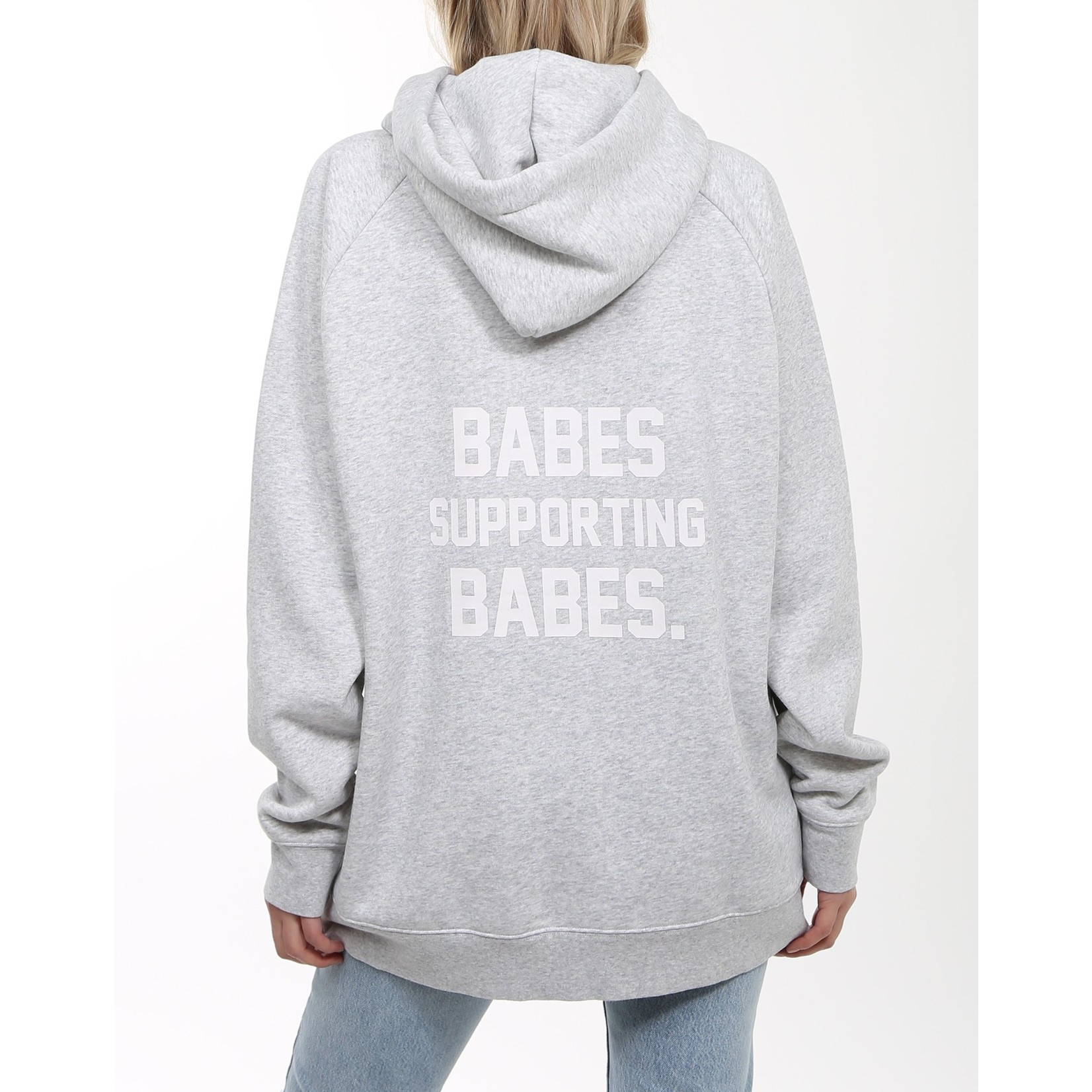 BRUNETTE THE LABEL BABES SUPPORTING BABES - BIG SISTER HOODIE