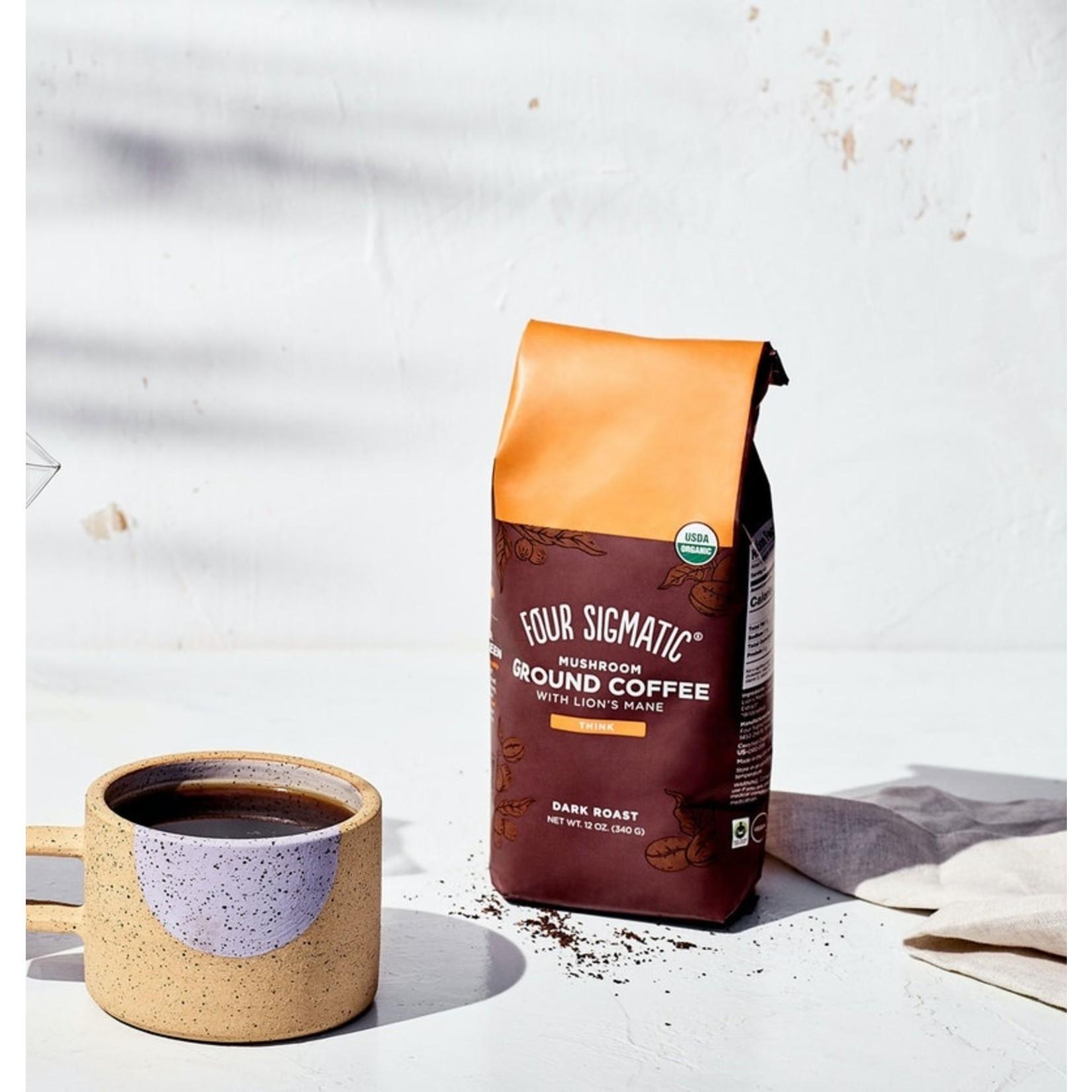RAW ELEMENTS GROUND MUSHROOM COFFEE W/ LION'S MANE