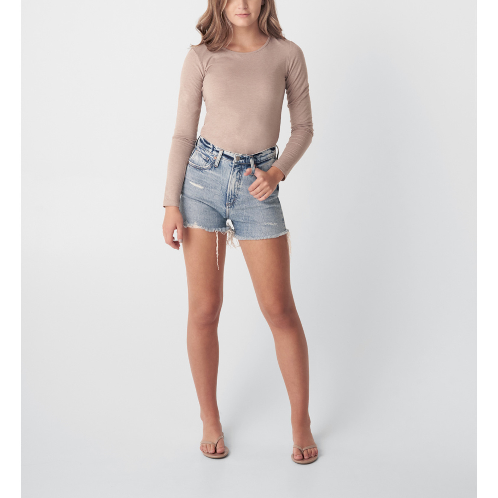 SILVER HIGHLY DESIRABLE HIGH RISE SHORT