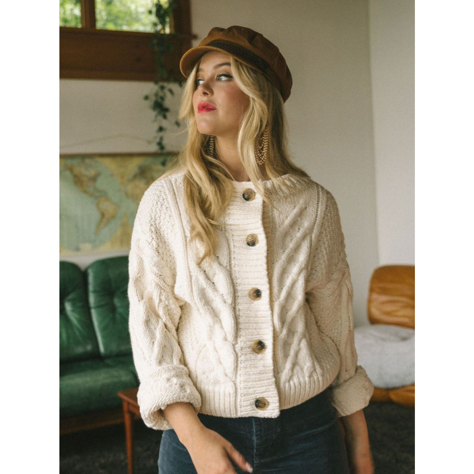 JACKSON ROWE SHELLY CABLE KNIT