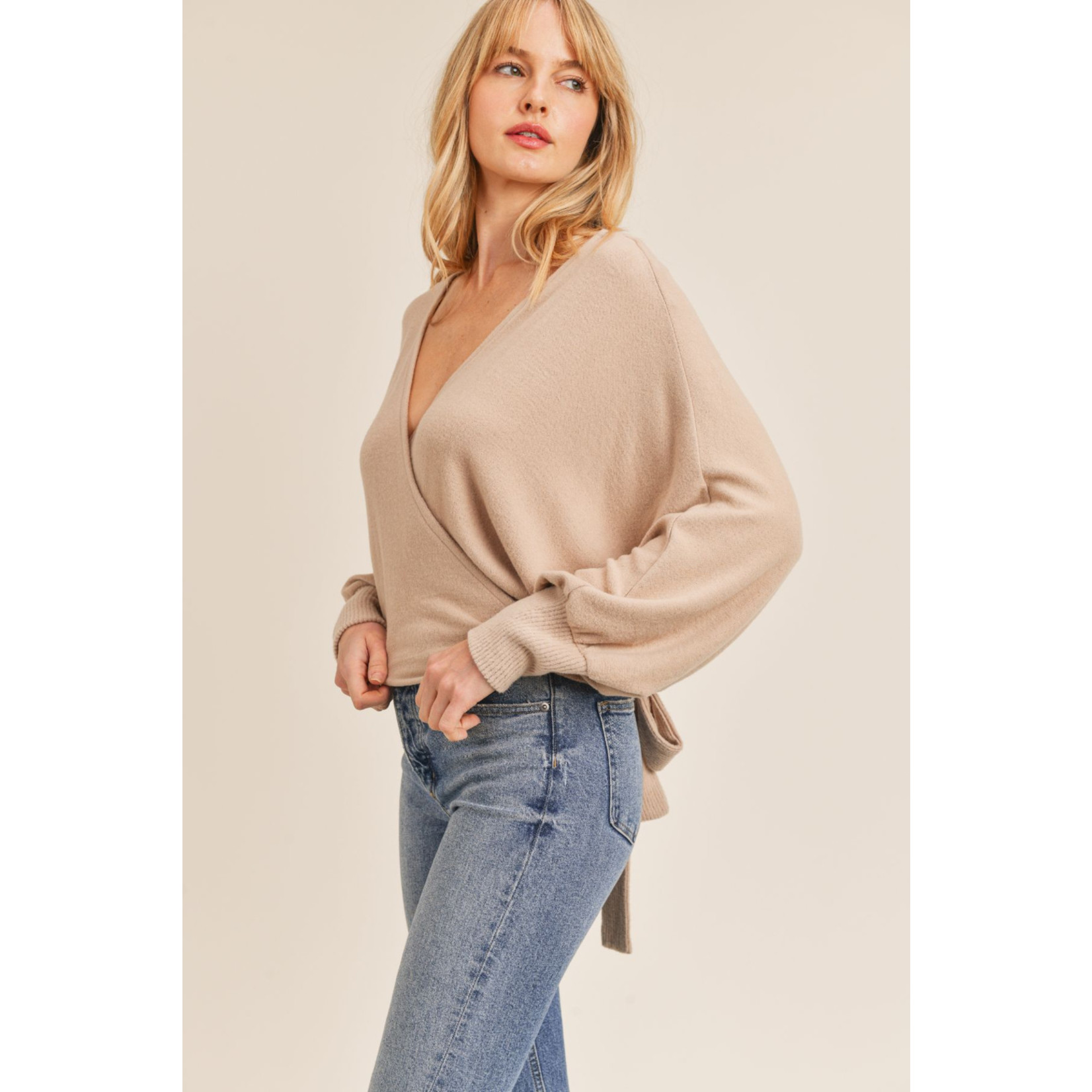SADIE & SAGE HERE FOR YOU WRAP TOP