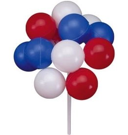 PFEIL & HOLING RED, WHITE & BLUE BALLOON CLUSTERS 7'' BOX  36CT
