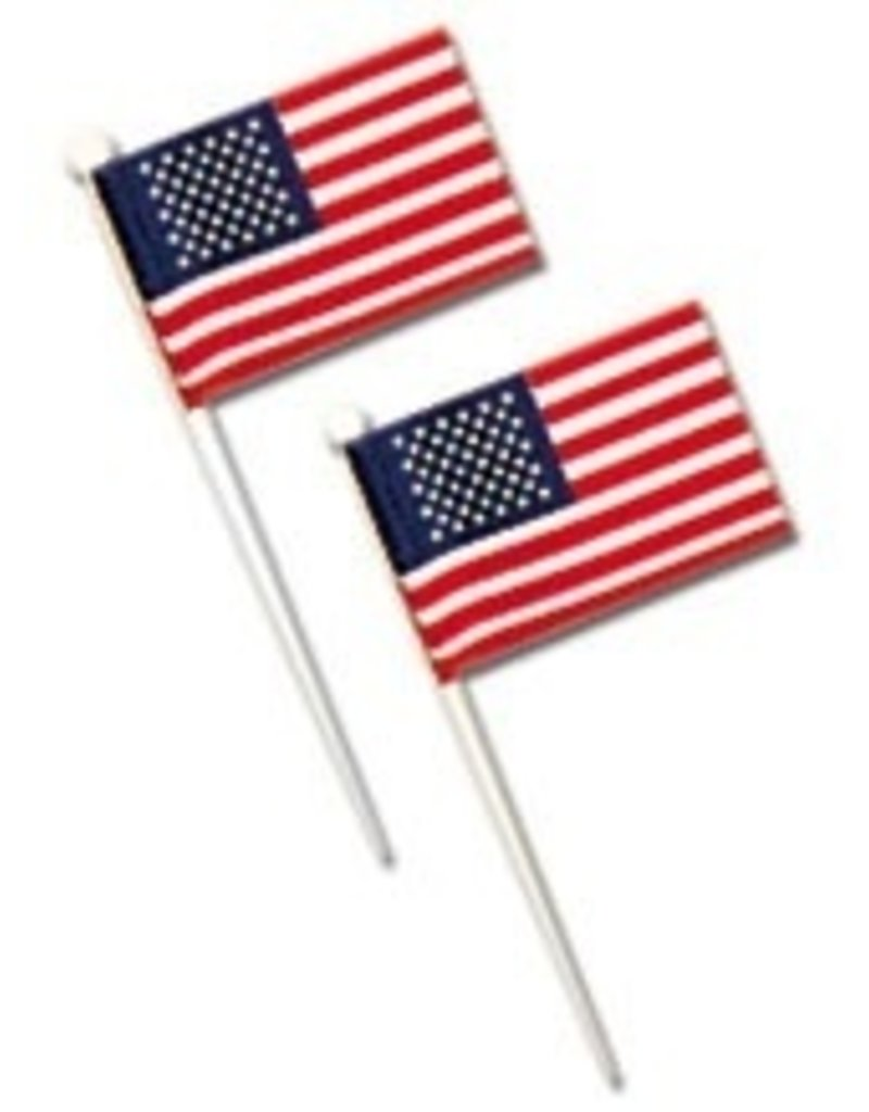 PFEIL & HOLING U.S. FLAGS - WHITE PICK 3½ BOX 144 CT