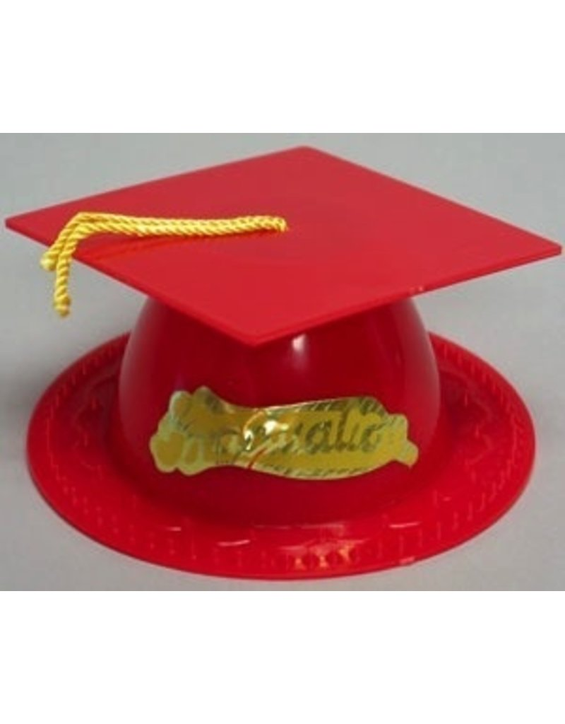 PFEIL & HOLING RED GRADUATION CAP 3½'' BOX   24 CT