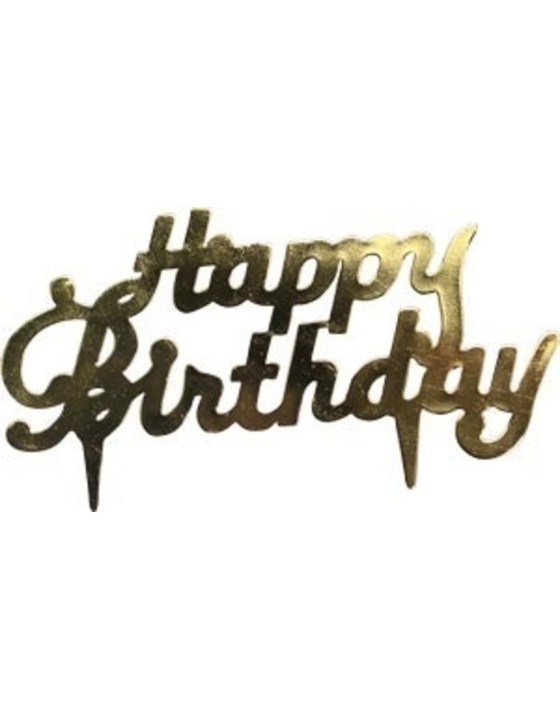 PFEIL & HOLING HAPPY BIRTHDAY GOLD SCRIPT 3 1/2'' BOX 72 CT