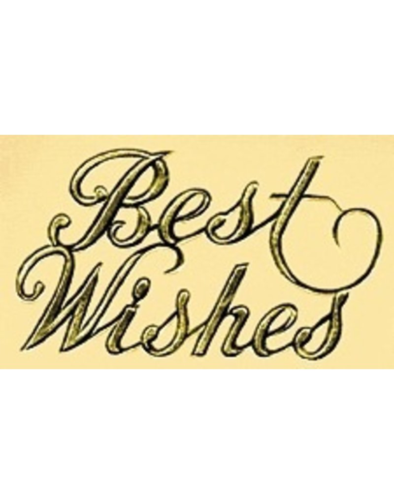 PFEIL & HOLING BEST WISHES FOIL SCRIPT PKG 100 CT
